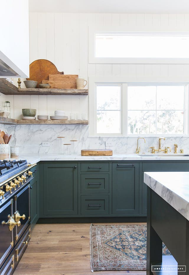 amusing green kitchen paint colors white cabinets | Green Kitchen Cabinet Inspiration - Bless'er House