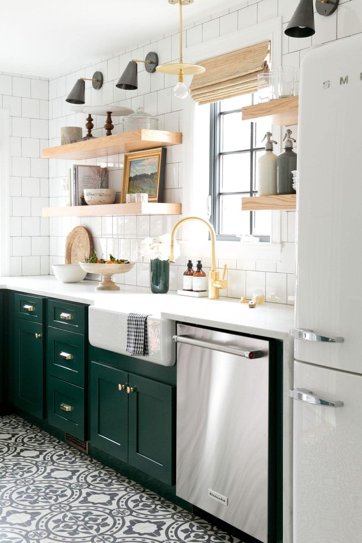 Green Kitchen Cabinet Inspiration - Bless'er House
