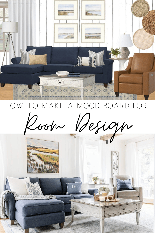 living room mood board design