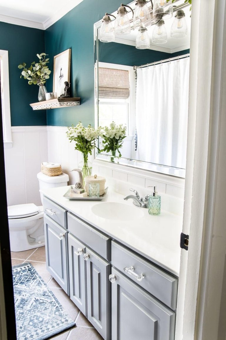 Our Painted Sink Countertop Tub & Shower 8 Months Later