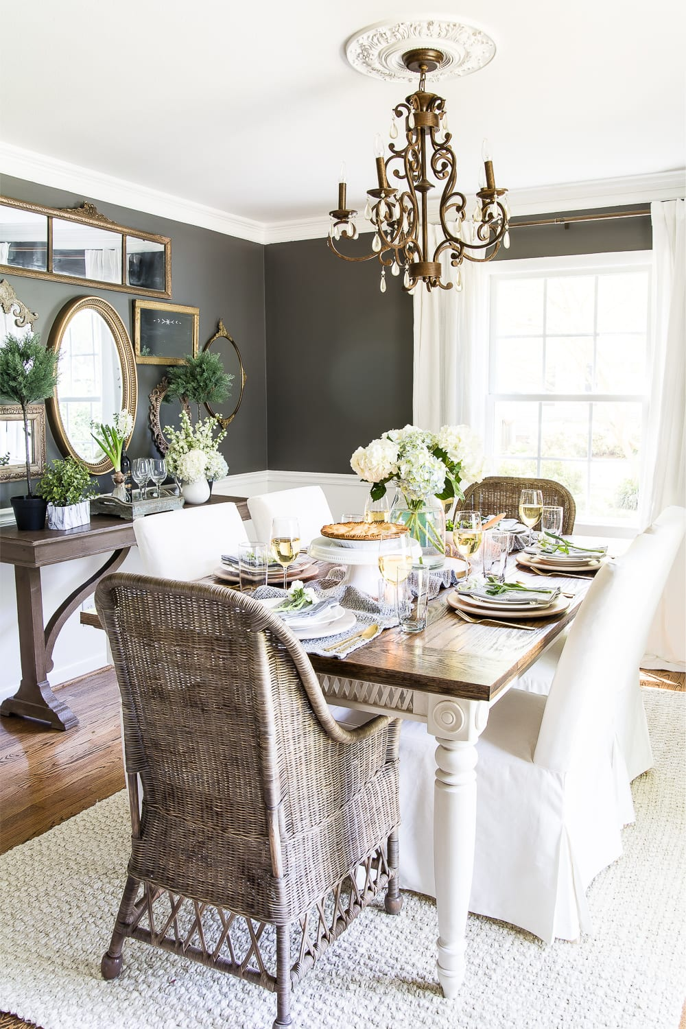 Dining room paint color - Benjamin Moore Kendall Charcoal