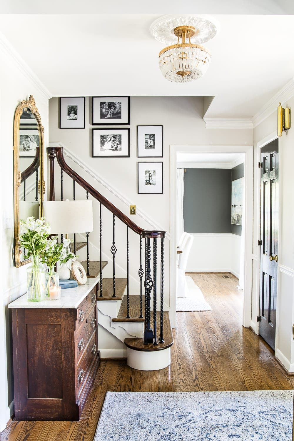 Classic neutral foyer entryway