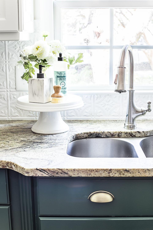 Green Kitchen Cabinet Update - Bless\'er House