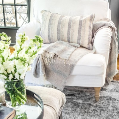 New Slipcovers for the IKEA Living Room Furniture