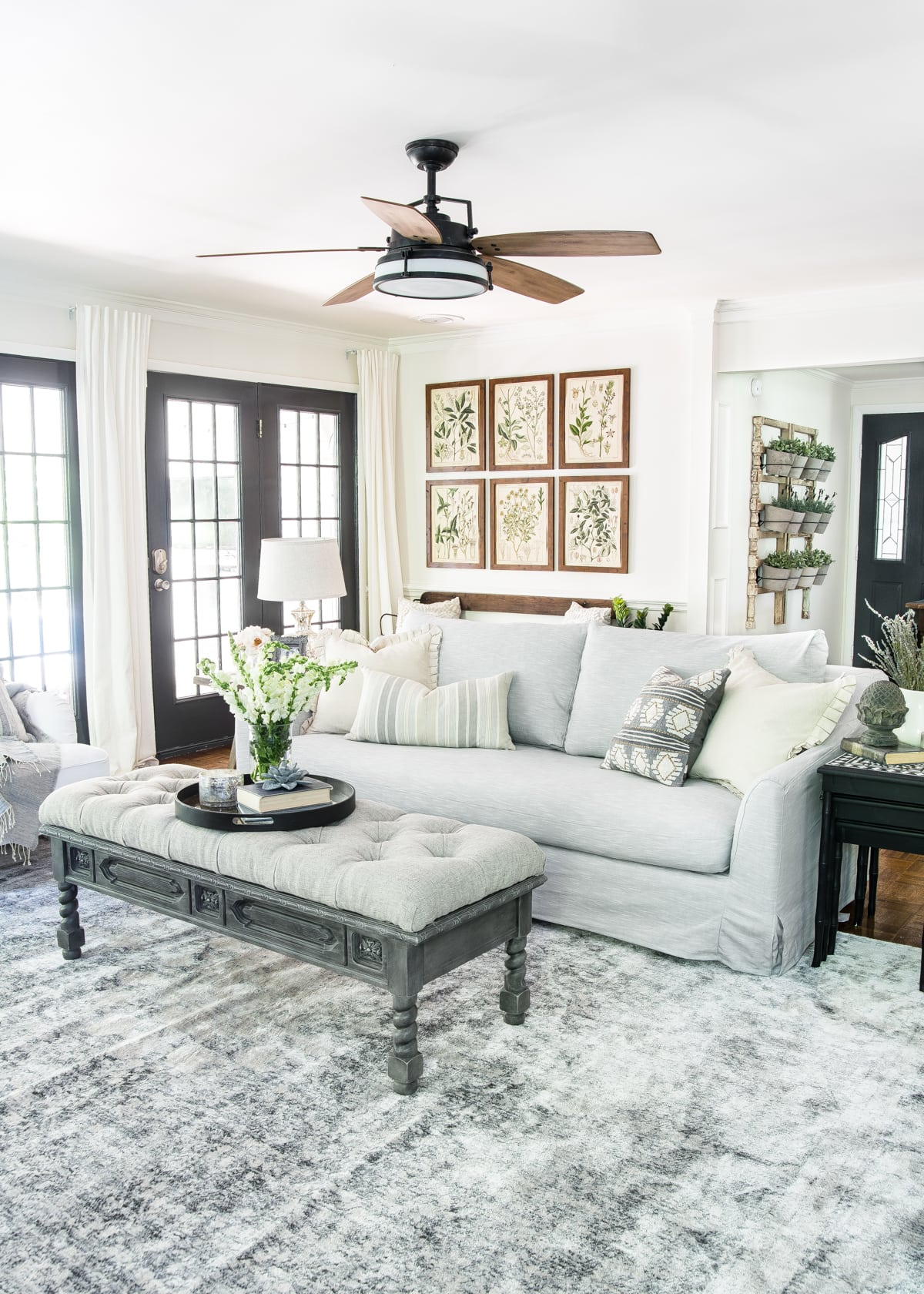 Modern farmhouse neutral living room