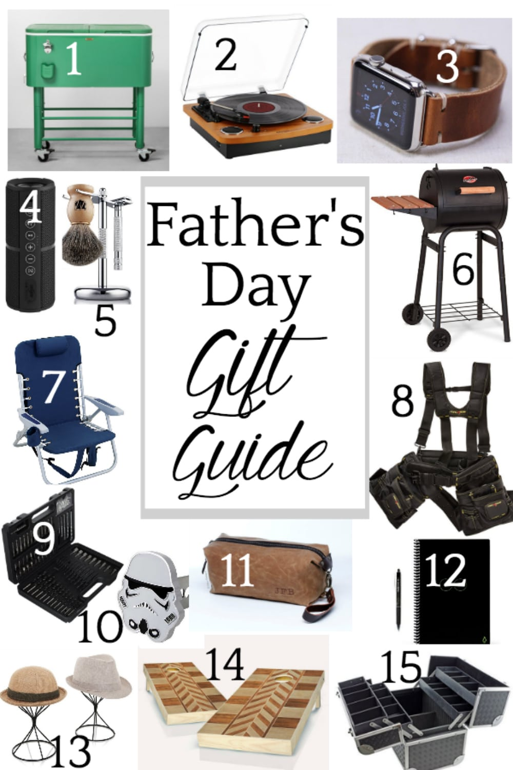 Father's Day Gift Guide : 15 fun and unique gift ideas to give for Father's Day 2018. #fathersdaygiftideas #fathersdaygiftguide #fathersday #fathersdaygifts #fathersdaypresents #fathersdayideas
