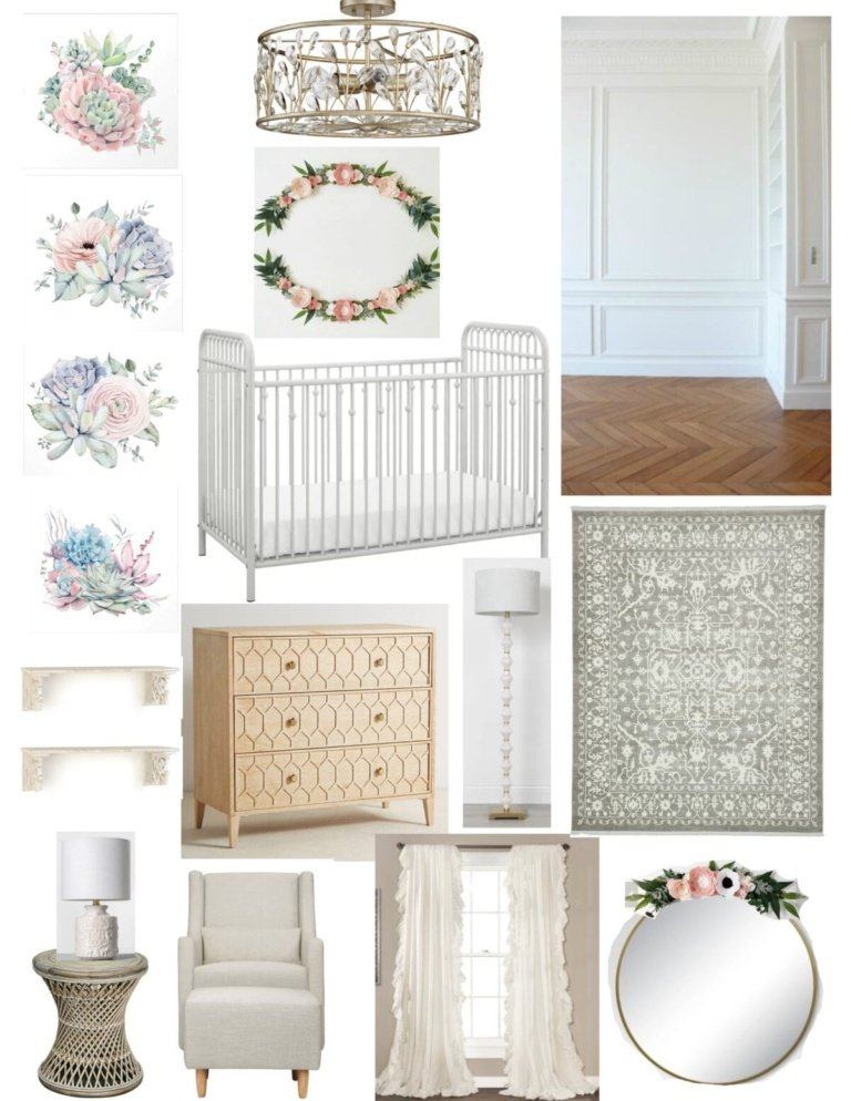 All White Nursery Design Plan