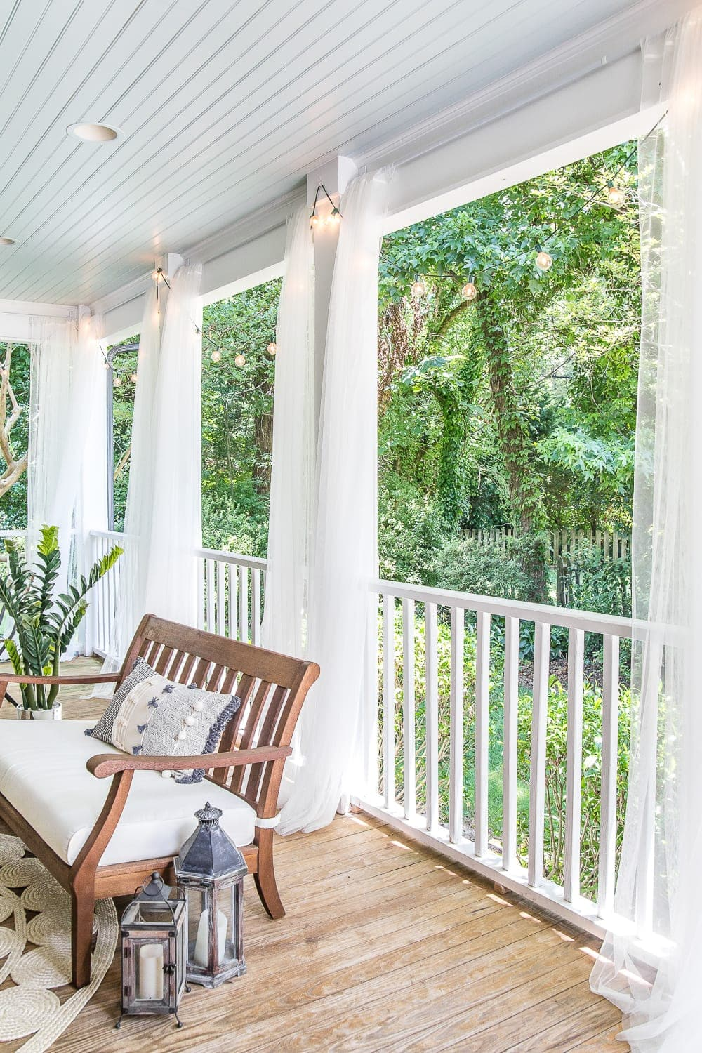 Diy Outdoor Curtains And Screened Porch For Under 100 Bless Er House