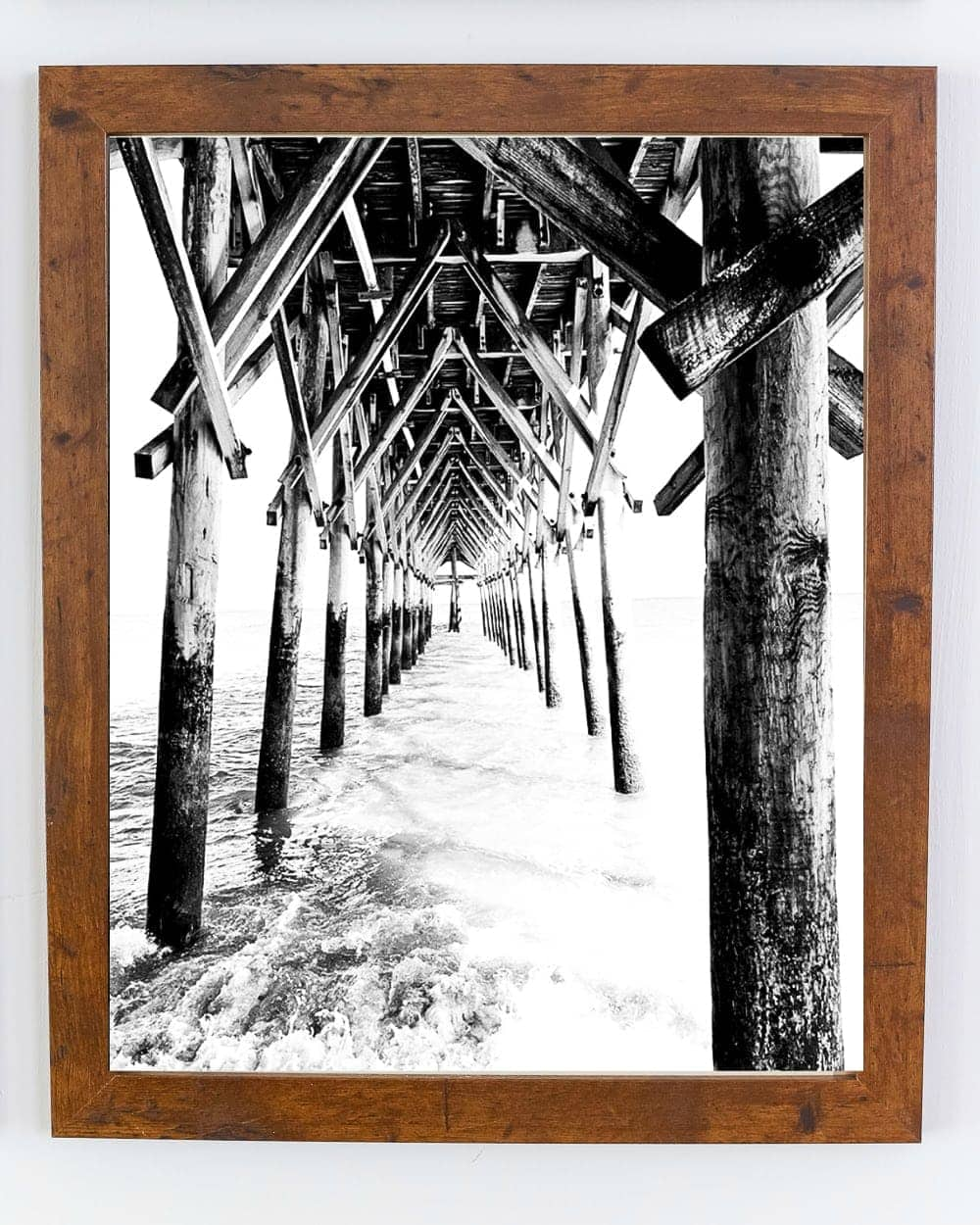 Free Carolina coastal art printable set featuring the Myrtle Beach boardwalk