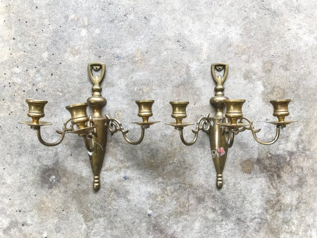 must-have thrift store staple : aged brass sconces