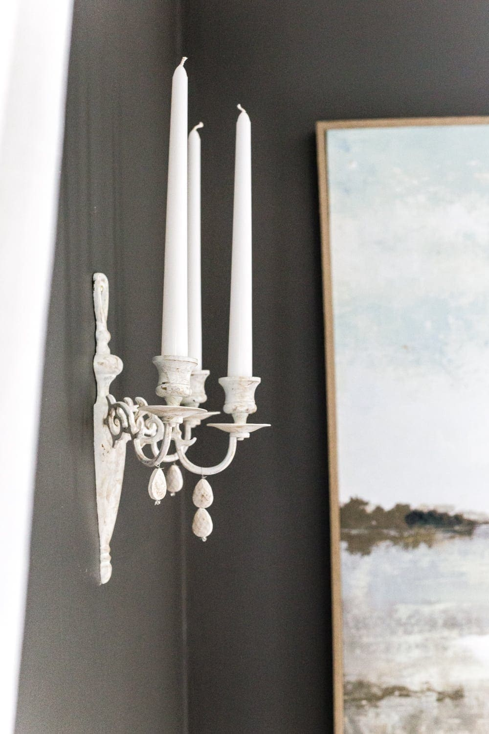 DIY French sconce from 80s brass fixtures