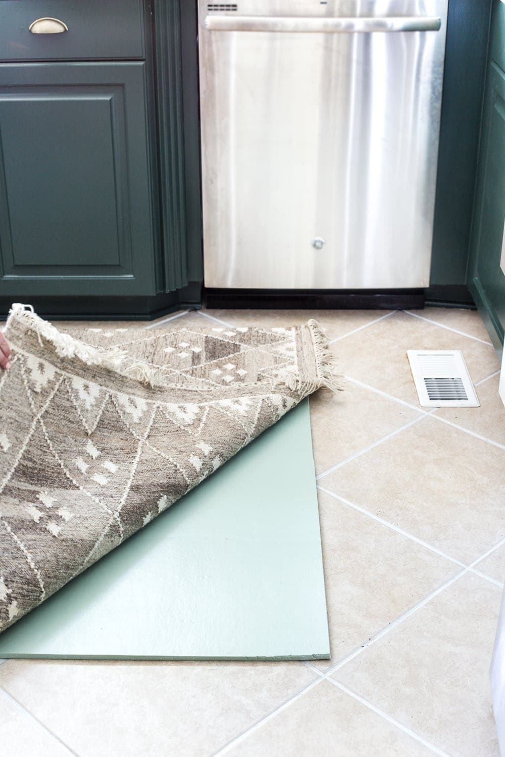 Memory Foam Layered Kitchen Rug And Tile Grout Refresh Bless Er House