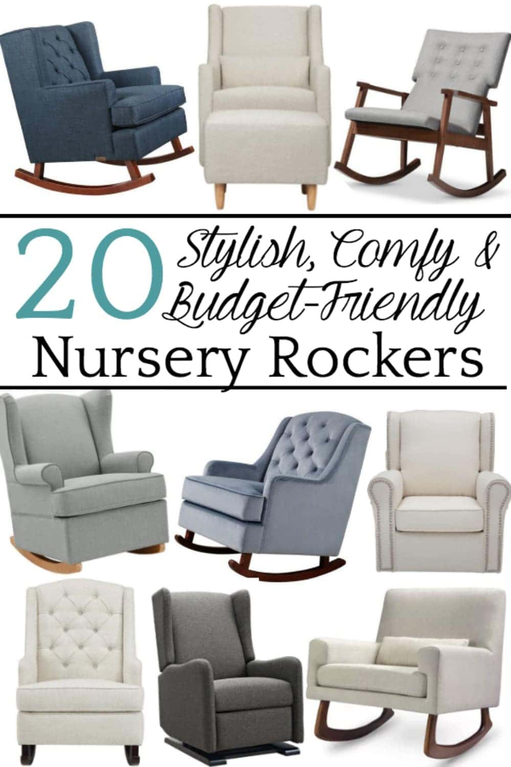 20 Stylish Budget Friendly Nursery Gliders Blesser House