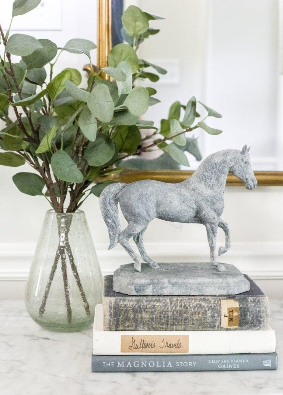 DIY Concrete Equestrian Statuette