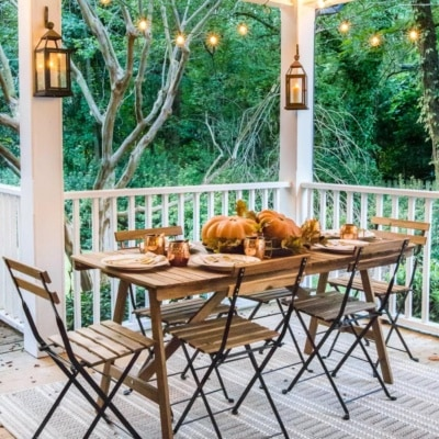 Fall Porch Tour and How to Add Cozy Style Outdoors
