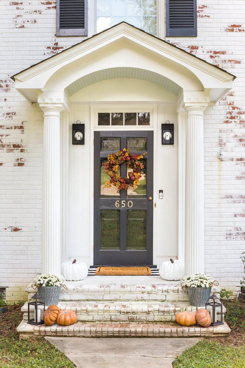 Roof Design Ideas: Fall Front Porch Stoop