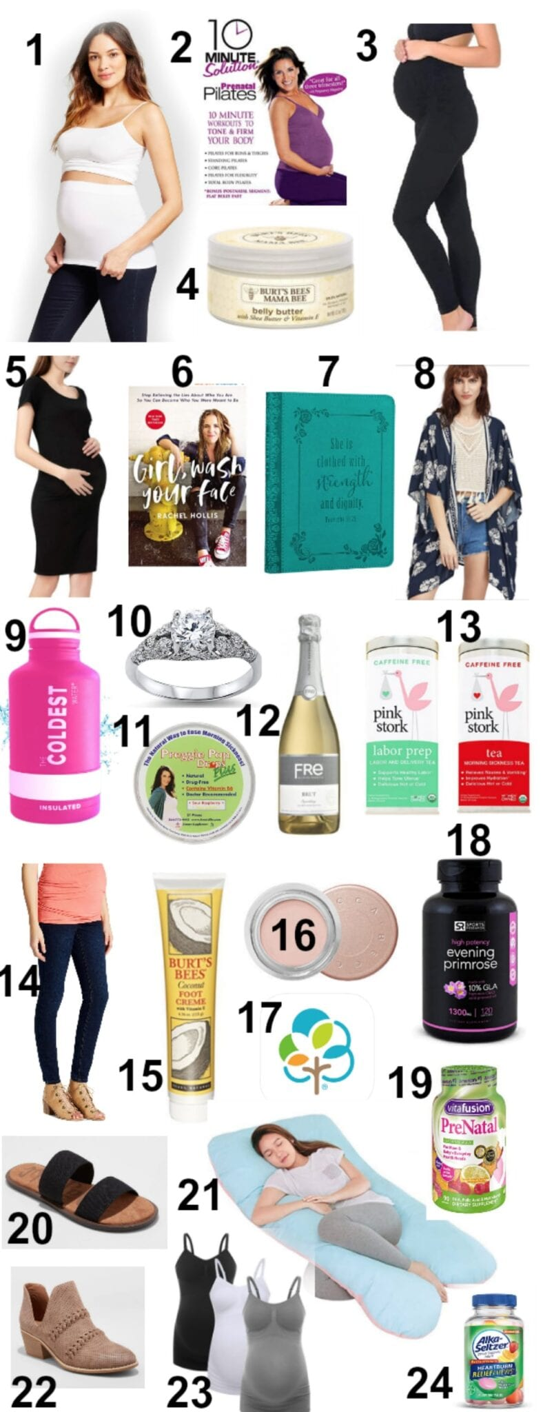 24 tried and true maternity must-haves with fashion, health, beauty, and wellness essentials to make pregnancy easier.