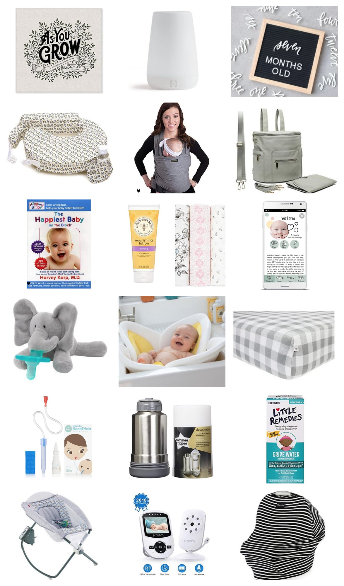 19 favorite newborn baby essentials like baby gear, toys, health items, apps, and keepsakes to make the first few months easier and extra special.
