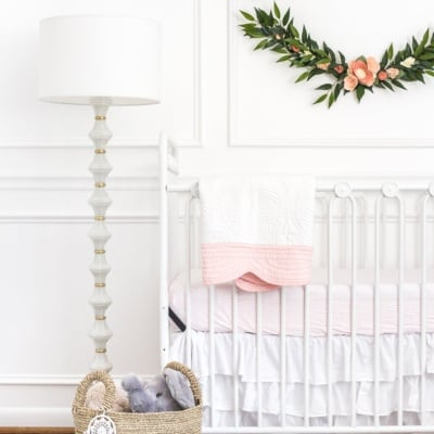 White Floral Nursery Makeover Reveal