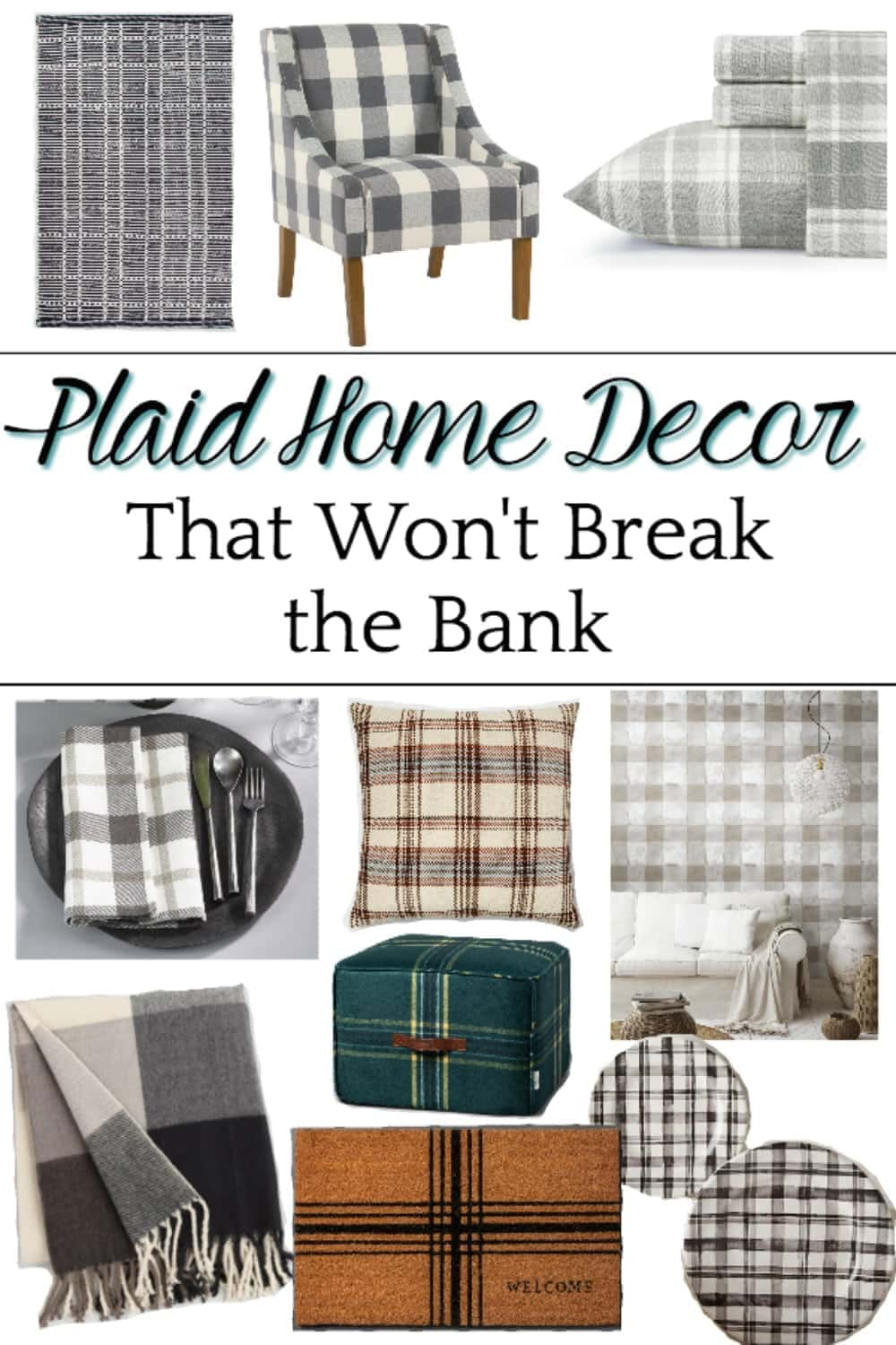 A Shopping Guide With Some Of The Best Resources For Plaid Home Decor To Cozy Up