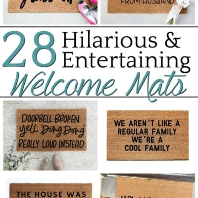 28 Entertaining Welcome Mats for Your Home
