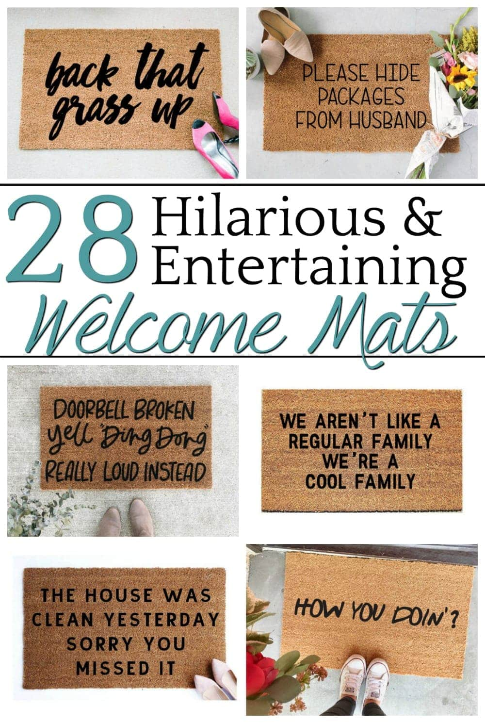 28 Entertaining Welcome Mats for Your Home - Bless\'er House