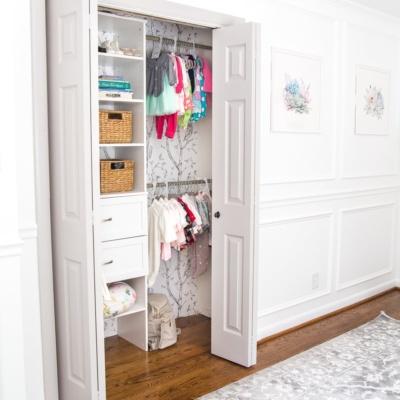 Nursery Closet Makeover Reveal and Closet Divider Printable Set