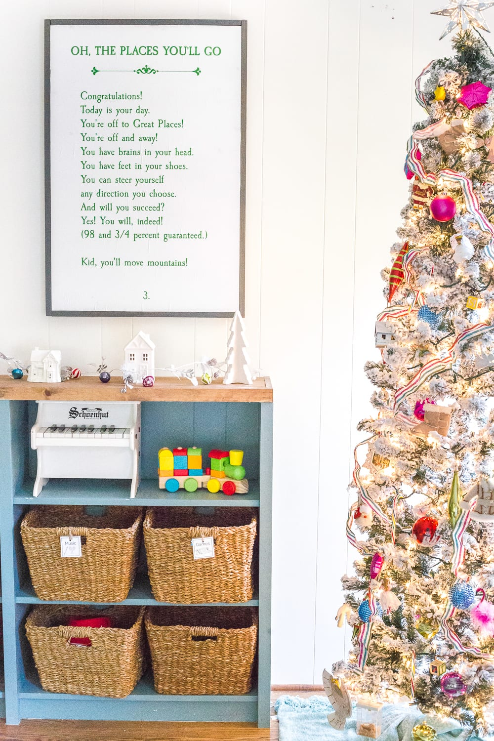 Kids' Christmas playroom