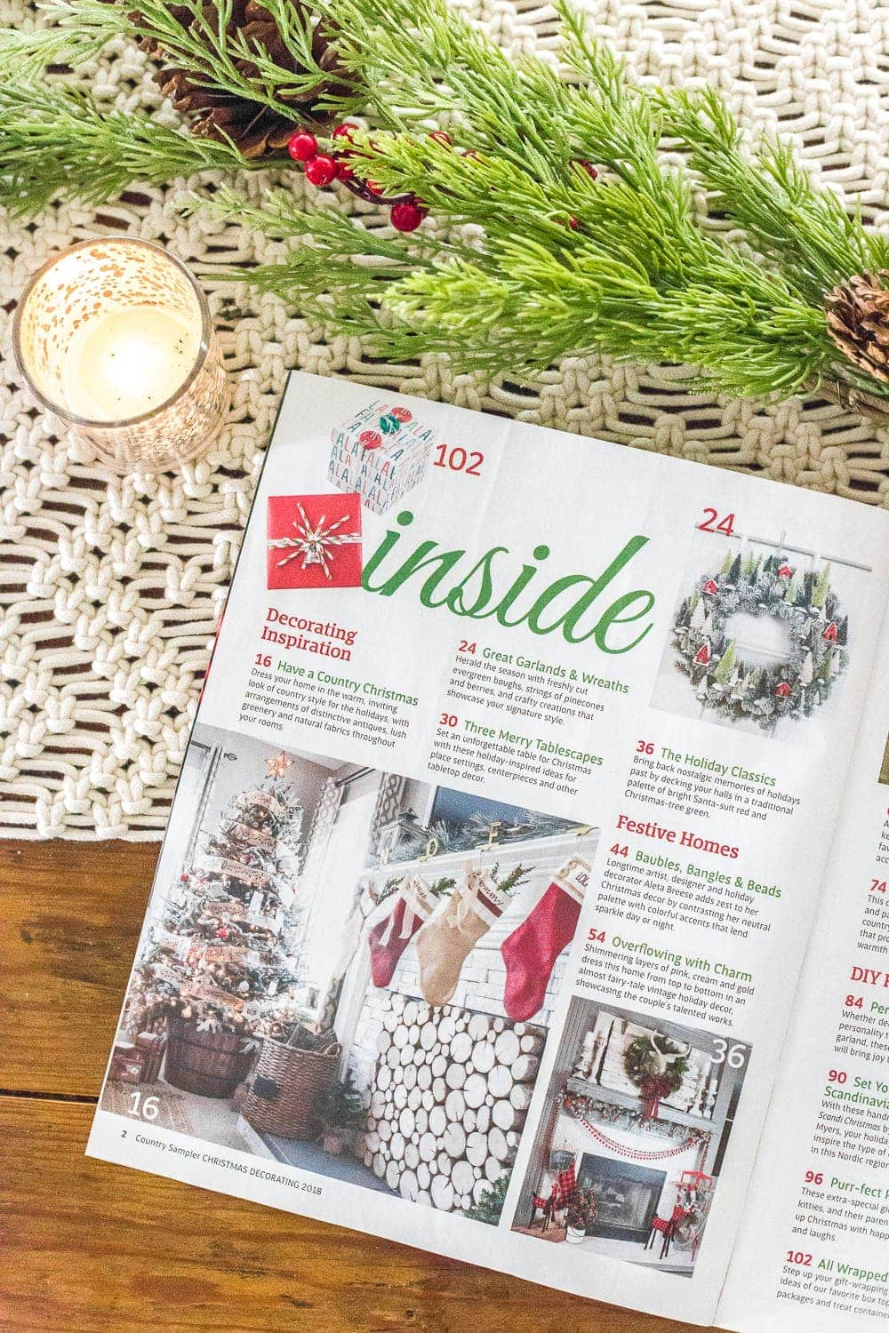 Christmas magazine feature Country Sampler | Country Christmas Decor