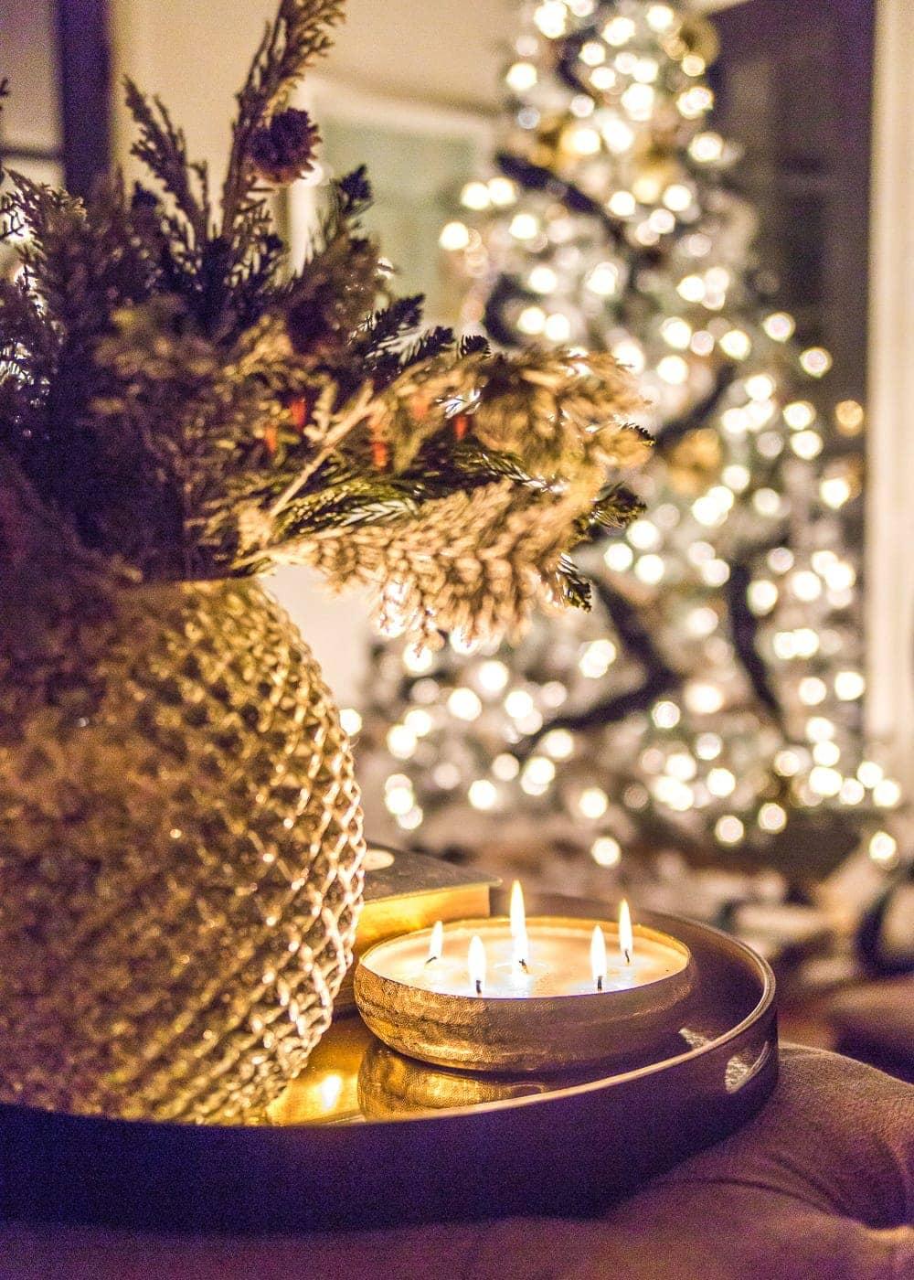 Christmas Candlelight Night Tour | Living Room Candle