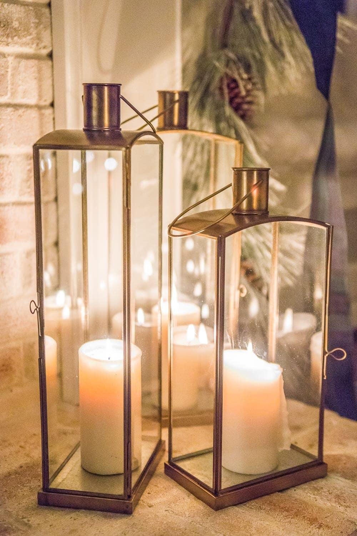 Christmas Candlelight Night Tour | Lanterns on hearth