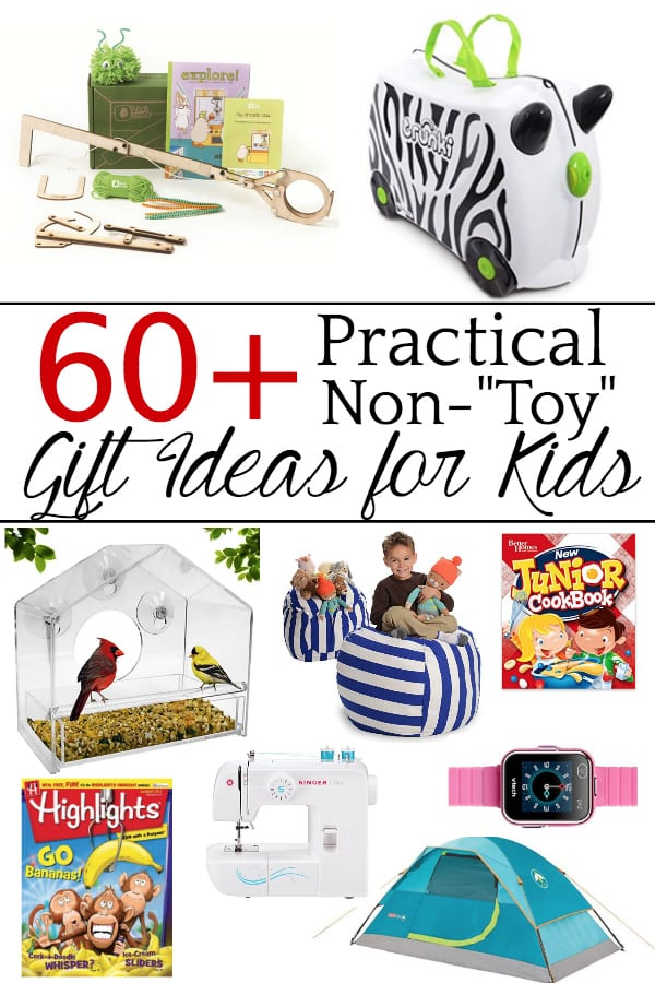 Practical gift ideas for kids that they will actually use to instill passion for learning, teach real-life skills, and create special memories from experiences that they'll hold onto forever! #nontoygiftideas #kidsgiftguide