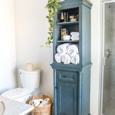 How to Turn a Cabinet Into a Hamper in Seconds