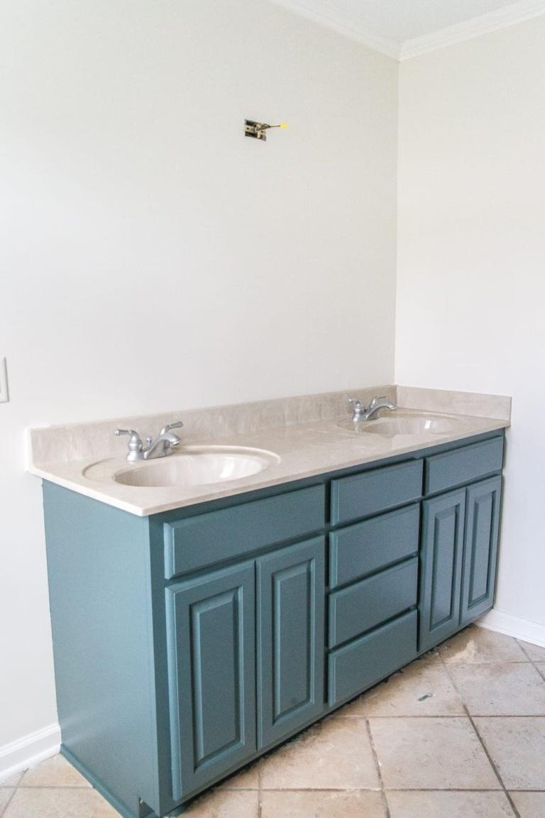 Painted Master Bathroom Refresh Update