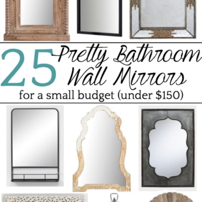 Unique Bathroom Mirrors for a Small Budget