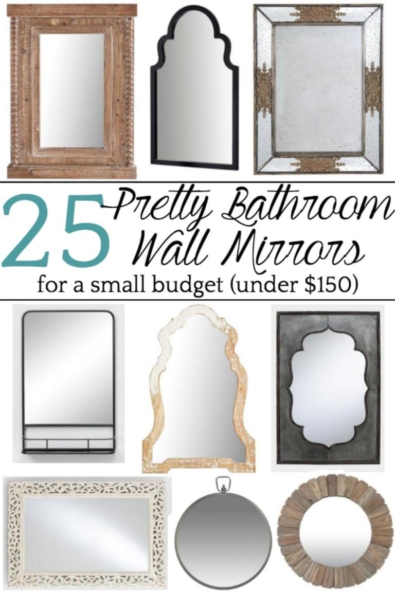 Unique Bathroom Mirrors for a Small Budget