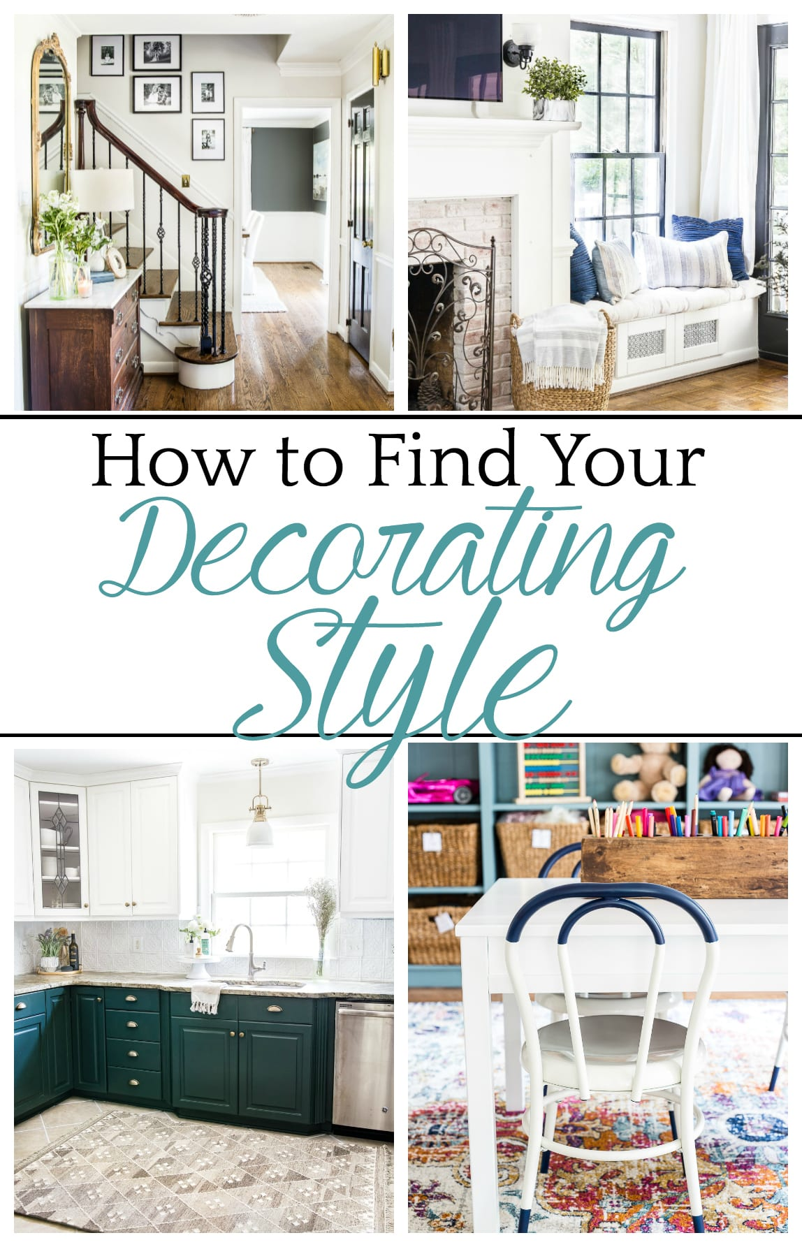 6 steps to find your decorating style by examining your personality, your lifestyle, your inspirations, and what you already own to create the home you love. #decoratingstyle #findyourdecoratingstyle