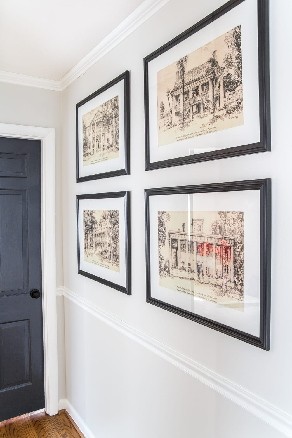 6 Tips to Decorate a Boring Hallway | blesserhouse.com - architectural printable art
