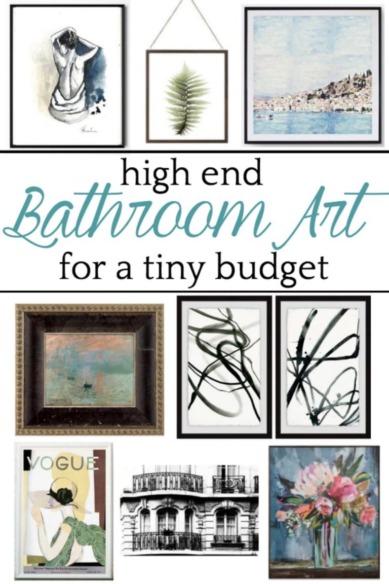 High End Bathroom Art for a Tiny Budget