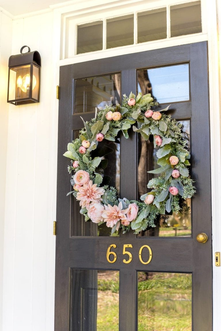 DIY Sage and Blush Spring Wreath
