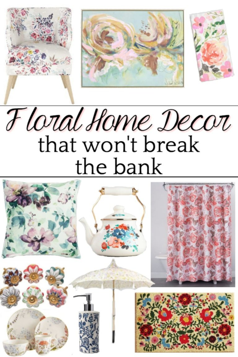 Floral Home Decor on a Budget