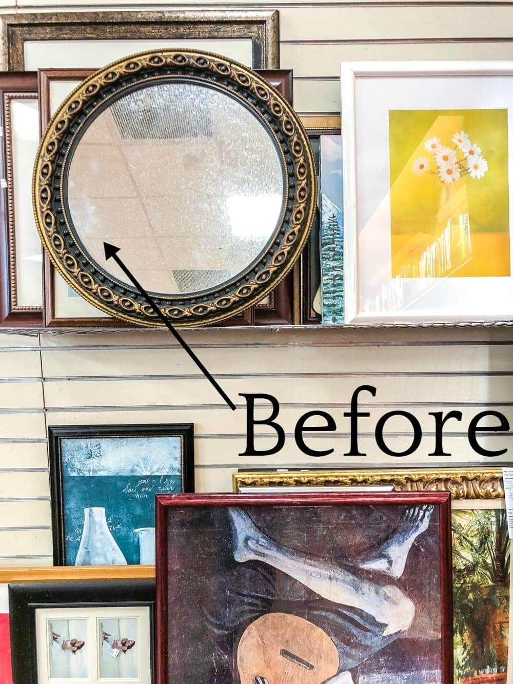DIY Candle Tray from a Repurposed Mirror | A quick and simple way to repurpose an old mirror to make a designer knock-off candle tray and add brightness to a dark room. #candletray #repurposedmirror #thrifteddecor #budgetdecor #mirror #tabledecor #centerpiece #tray