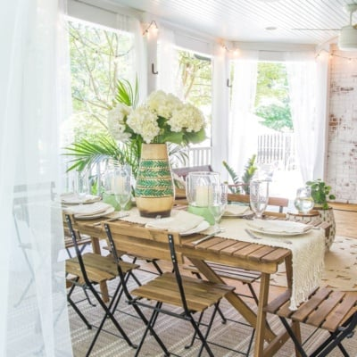 Boho Summer Back Porch
