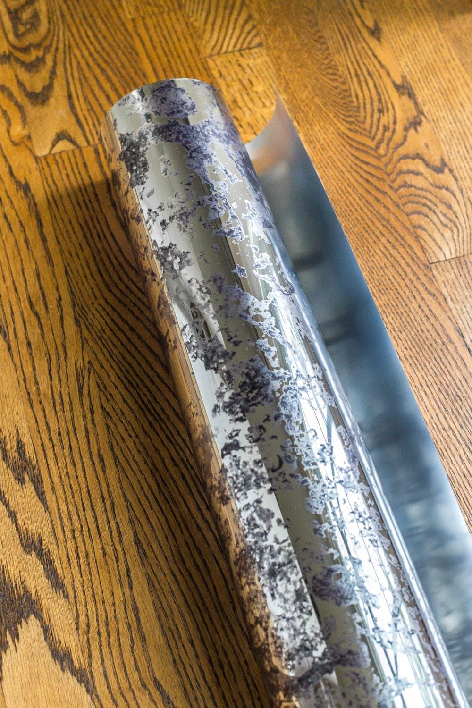 DIY IKEA Hemnes Pantry Cabinet   blesserhouse.com - antique mirror window film