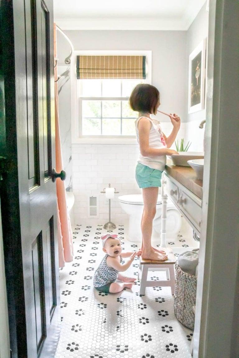 Kids Bathroom Makeover Reveal