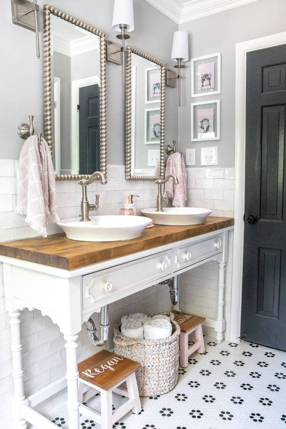 Girls Bathroom Decor Details and Sources - Bless'er House