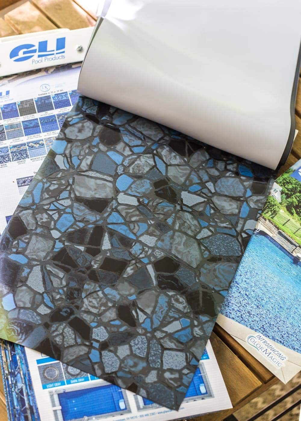 Swimming Pool Liner Makeover Reveal | GLI Pool Products TrueStone Collection - Obsidian