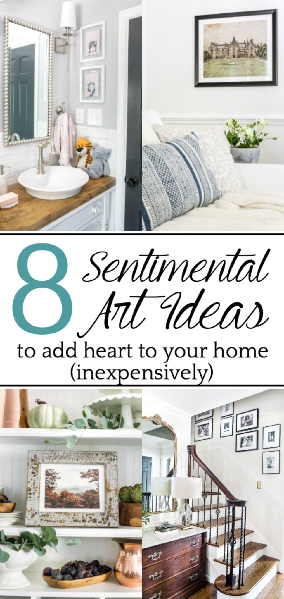 Sentimental Art Ideas | A list of ways to add meaning to your walls inexpensively with family artifacts, heirlooms, and special memories, plus ways to DIY them.