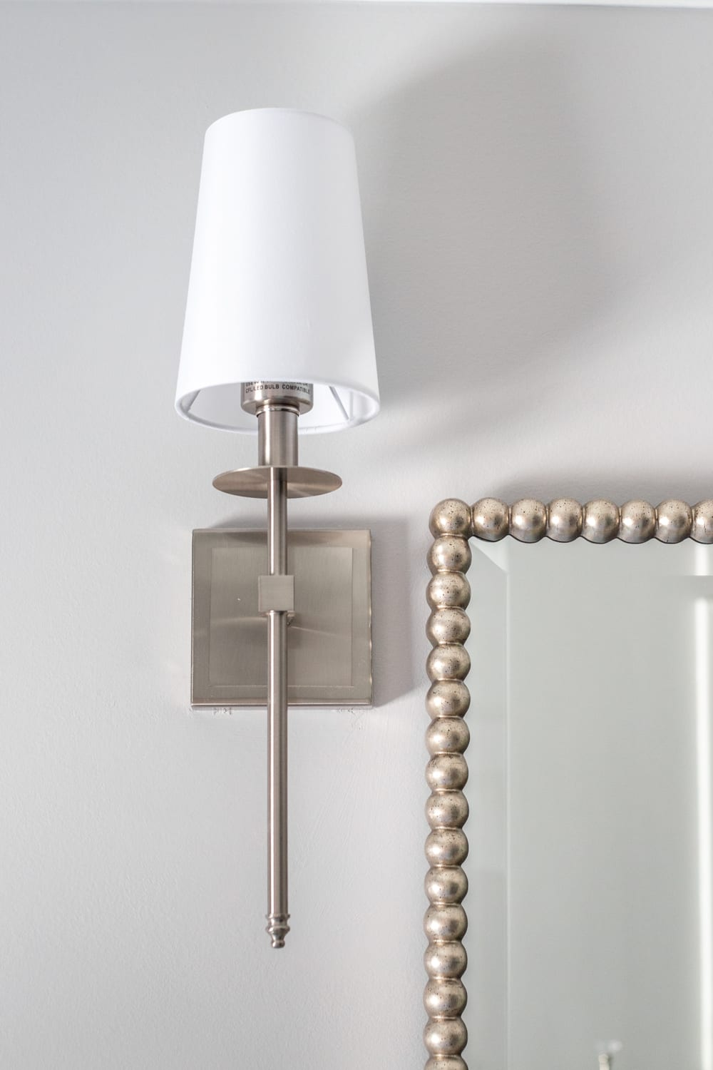Girls' Bathroom Decor Details & Sources | traditional style shaded sconce