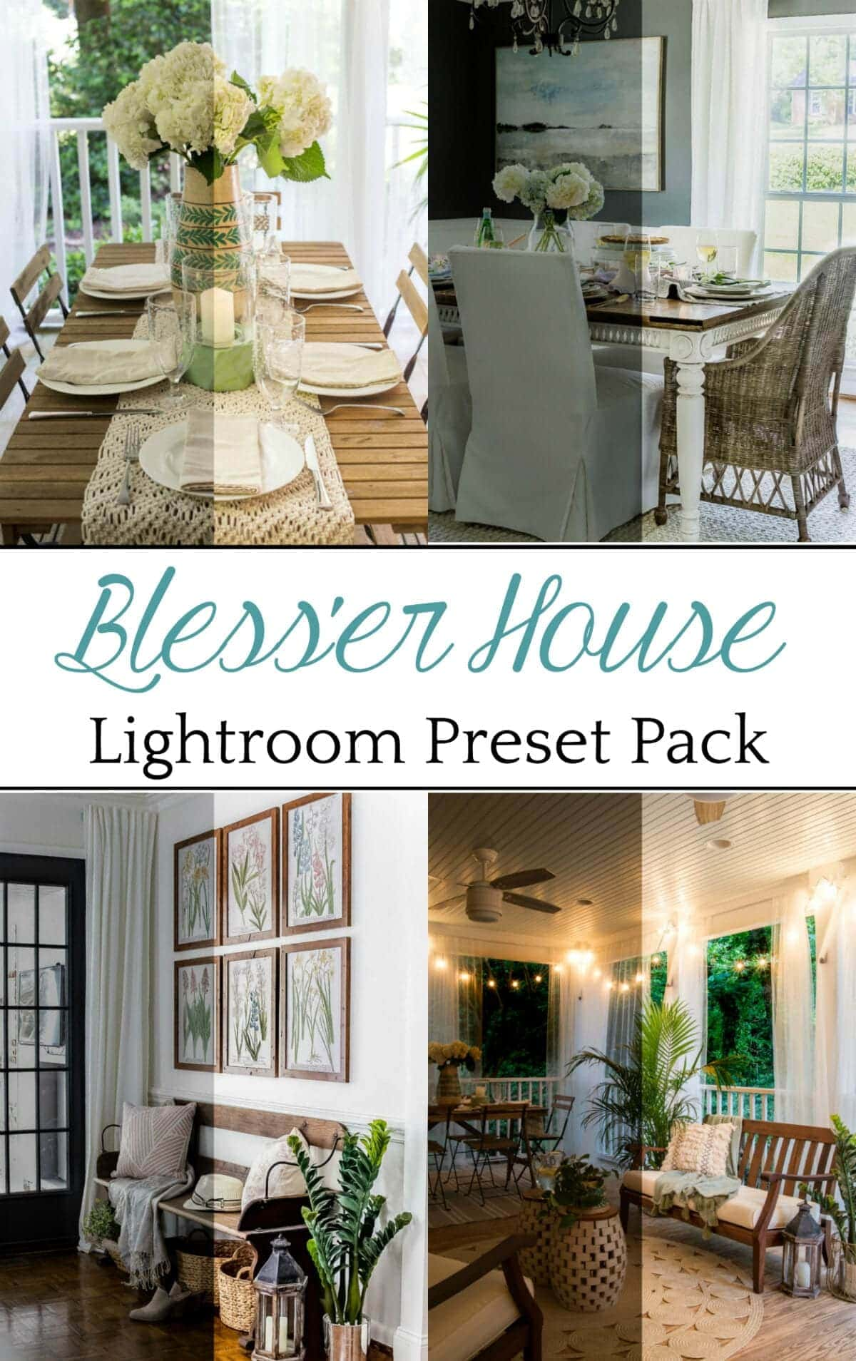 Bless'er House Lightroom Presets | Lightroom presets that make images look true-to-life white balanced to create photos that are vibrant, crisp, and bright as if beautiful, clean light is streaming right into your space with the touch of a button.